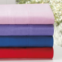 Plain Dyed Kids Flannelette Sheet Set