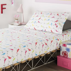 Songbird Flannelette Sheet Set
