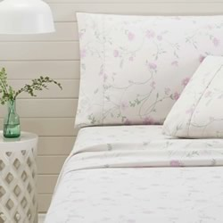 Bettina Lilac Flannelette Sheet Set