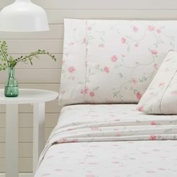 Bettina Pink Flannelette Sheet Set