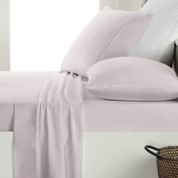 Lilac Flannelette Sheet Set