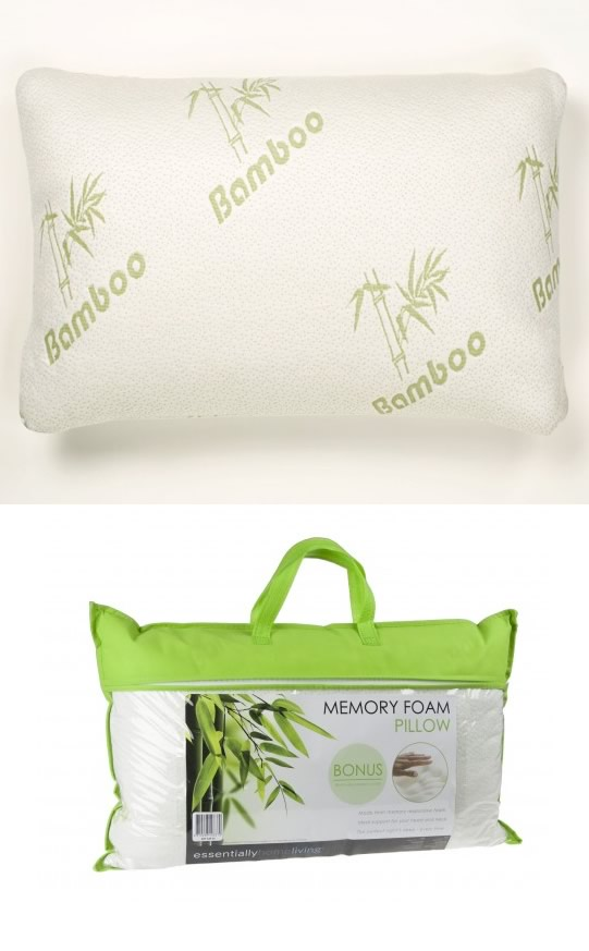 Bamboo Cover Memory Foam Pillow By Apartmento Cottonbox