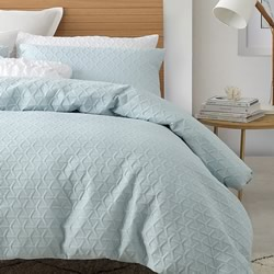Audrey Powder Blue Quilt Cover Set