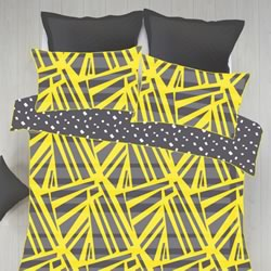 Spliced Yellow Quilt Cover Set