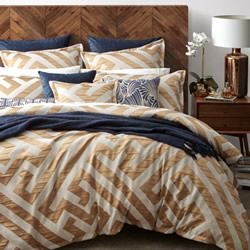 Chinese Key Gold Quilt Cover Set