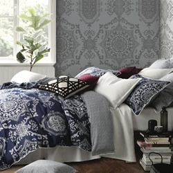Medallion Indigo Quilt Cover Set