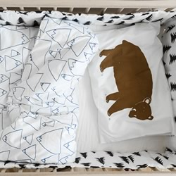 Bruno Mountain Organic Cotton Cot Quilt Cover Set