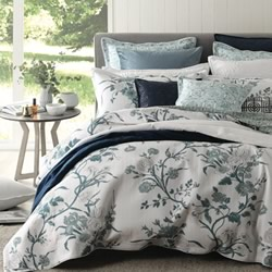 Carnation Jade Quilt Cover Set