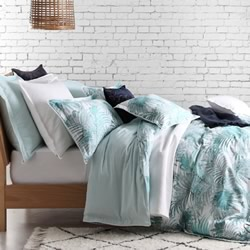 Palms Teal Quilt Cover Set