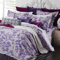 The Cranes Lilac Quilt Cover Set