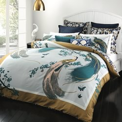 Exotic Birds Gold Quilt Cover Set