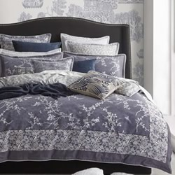 Oriental Denim Quilt Cover Set