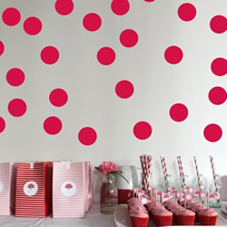 Red Spots Wall Decals