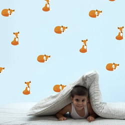 Sleepy Foxes Wall Decals