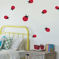 Lady Beetles Wall Decals