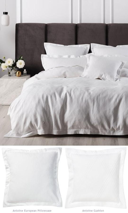 Antoine White Quilt Cover Set