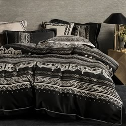 Cavallino Black Quilt Cover Set