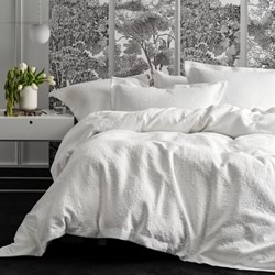 Georgia White Quilt Cover Set