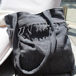 Adore Black Beach Bag
