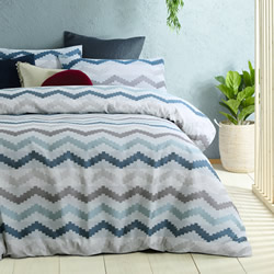 Arlo Blue Quilt Cover Set