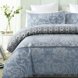Barcelona Blue Quilt Cover Set