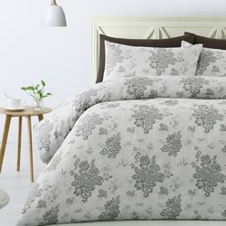 Cecily Grey Quilt Cover Set