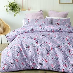 Cherry Blossom Quilted Quilt Cover Set