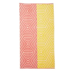 Cloudburst Coral Beach Towel