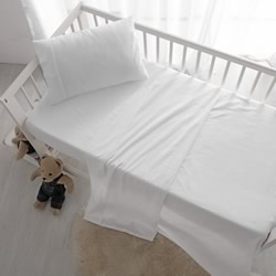 Cot Sheet Set White Vintage Washed Cotton