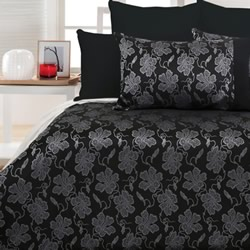 Cranbrook Silver Black Quilt Cover Set