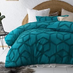 Dreamweaver Teal Quilt Cover Set