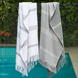 Grey And White Turkish Towels