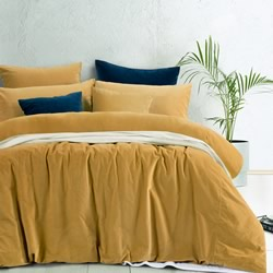 Harmony Gold Velvet Quilt Cover Set
