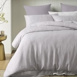 Java Silver Quilt Cover Set