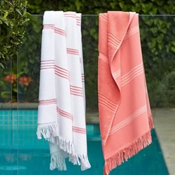 Pink And White Turkish Towels