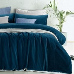 Cotton Velvet Riverland Quilt Cover Set