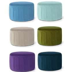 Preston Velvet Ottomans