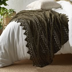 Tenille Olive Lace Crochet Throw