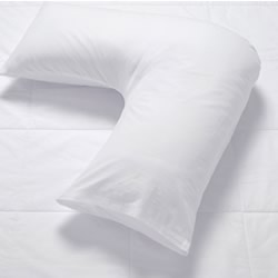 V Shape White Pillowcase