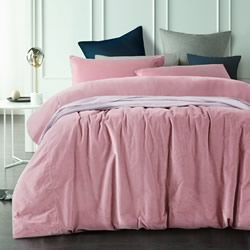 Smokey Rose Velvet Quilt Cover Set