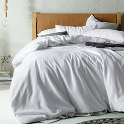 Vintage Washed Cotton White Quilt Cover Set
