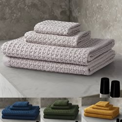 4pce Waffle Cotton Spa Towel Packs