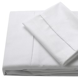 Quay White Embossed Sheet Set