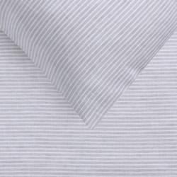 Yarn Dyed Linen Grey Stripe Quilt Cover Set