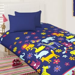 Animal Silhouettes Quilt Cover Set