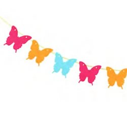Butterfly Orange Bunting