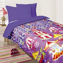 Fun At Fair Blue Quilt Cover Set