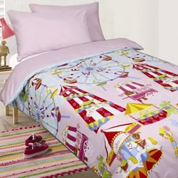Fun At Fair Pink Quilt Cover Set