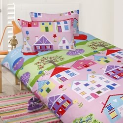 Lovely House Quilt Cover Set