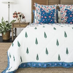 Annabelle Hand Block Printed Coverlet